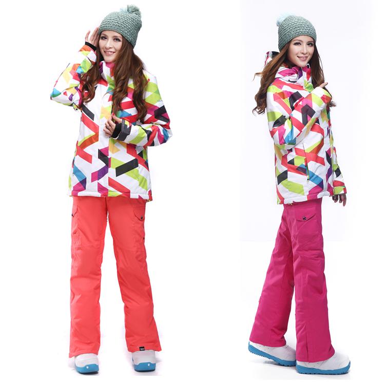 6c3f1e1e2c13 Женский зимний лыжный костюм Gsou SNOW, женский сноубордический костюм ROXY,  женская зимняя лыжная экипировка, женская спортивная зимняя лыжная одежда