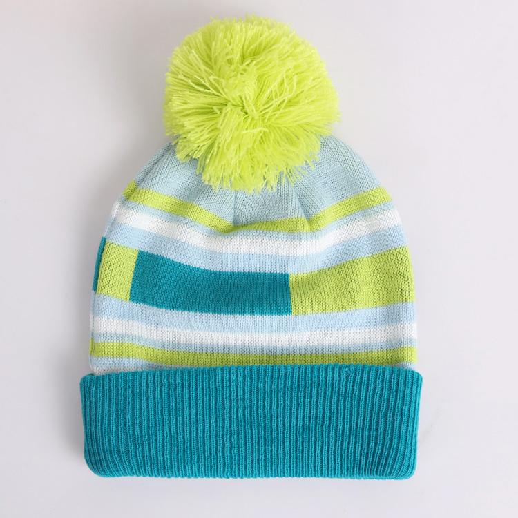 Горнолыжная шерстяная женская синяя шапка фото