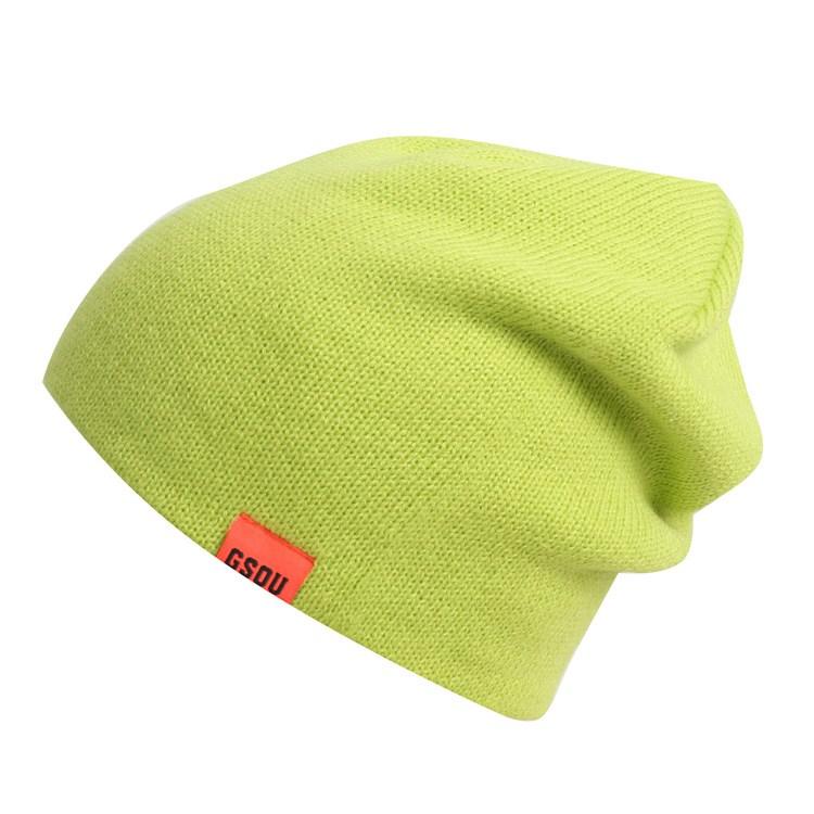 Горнолыжная шерстяная женская черная шапка фото