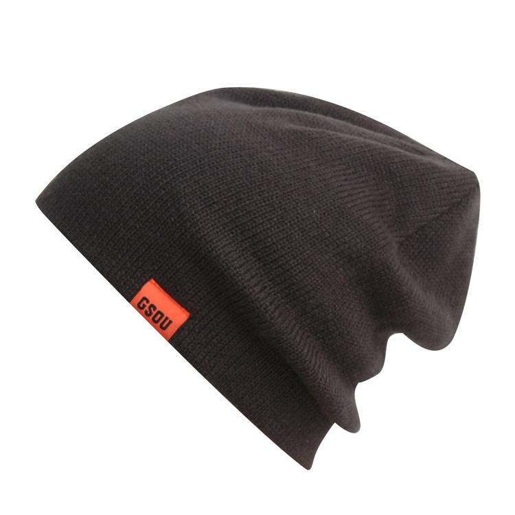 Горнолыжная шерстяная женская красная шапка фото