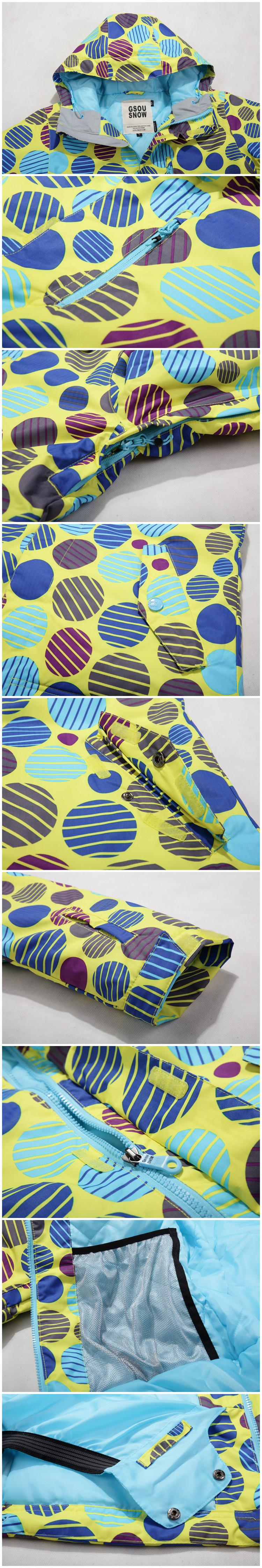 Женская теплая непромокаемая горнолыжная куртка GsouSnow фото