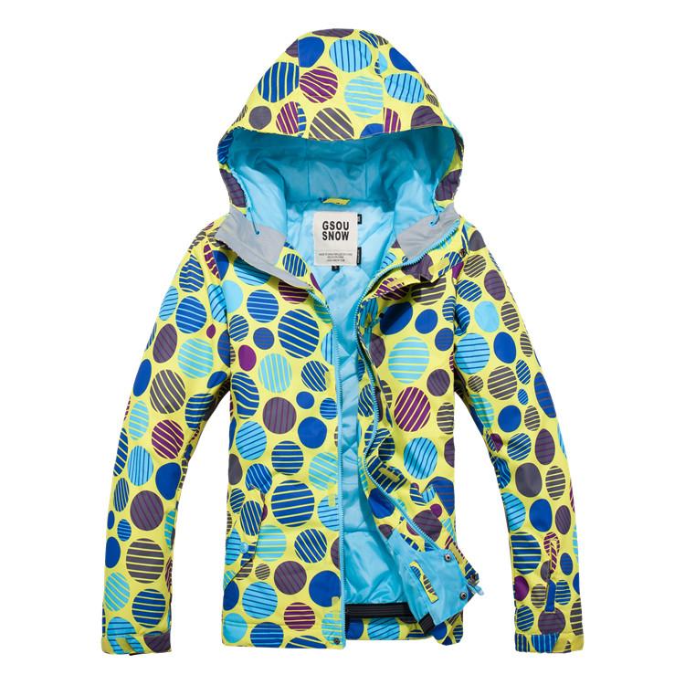 Женская недорогая теплая непромокаемая горнолыжная Gsou Snow, сноубордическая, лыжная куртка GsouSnow фото
