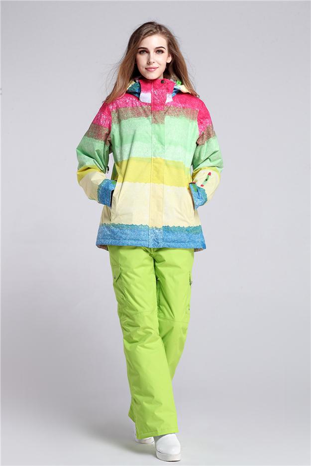 женский зимний горнолыжный костюм Gsou SNOW, женский сноубордический костюм Gsou SNOW, женская зимняя горнолыжная экипировка, женская спортивная зимняя горнолыжная одежда фото