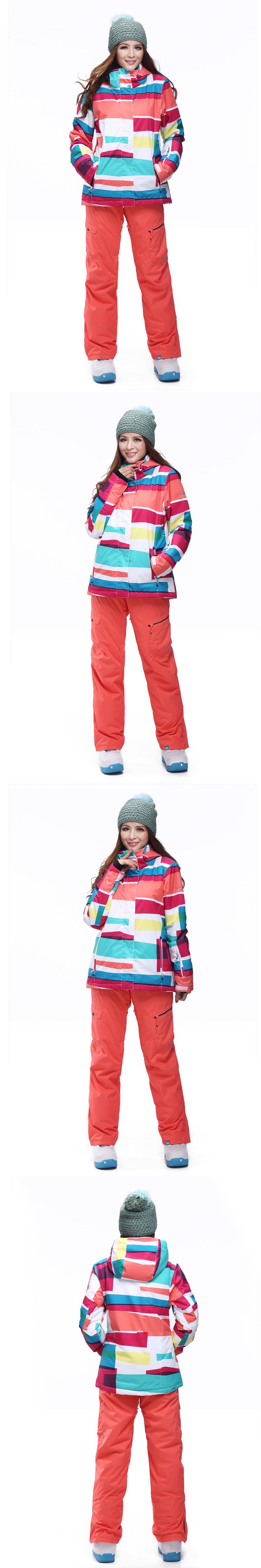 женский зимний горнолыжный костюм Gsou SNOW фото