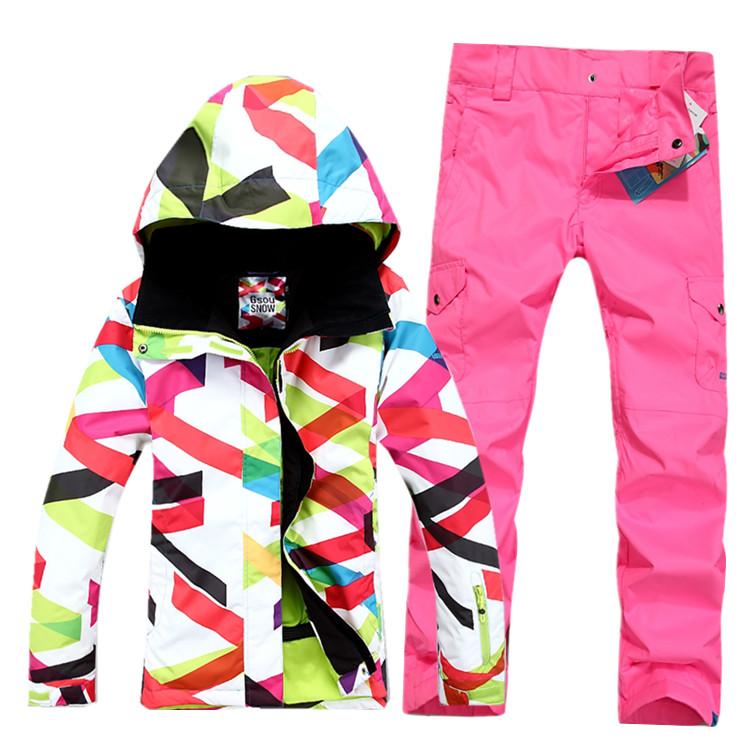 женская спортивная зимняя лыжная одежда фото
