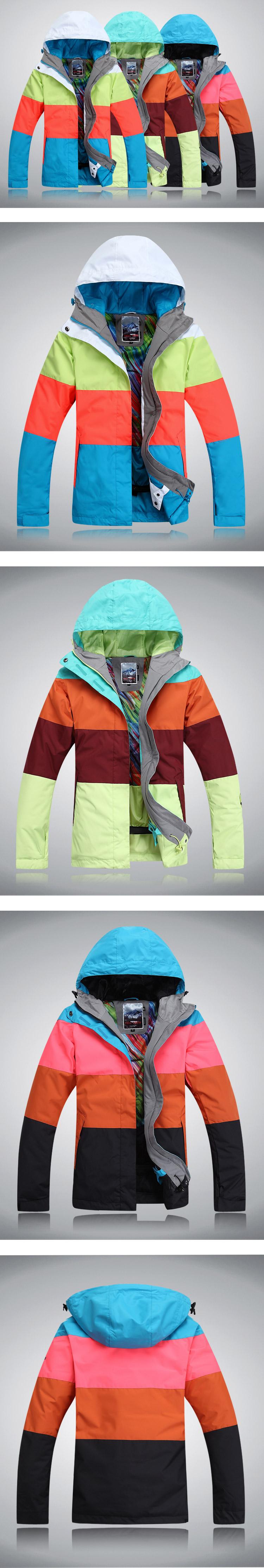женская зимняя горнолыжная куртка Gsou SNOW фото
