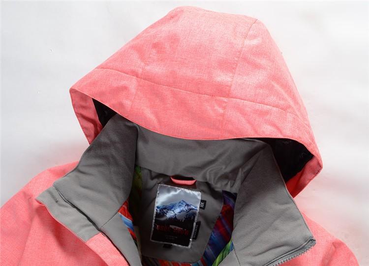 Женская зимняя лыжная куртка Gsou SNOW, дешевая цена женская куртка для сноуборда Gsou SNOW, качественная лыжная экипировка, красивая и модная лыжная одежда фото
