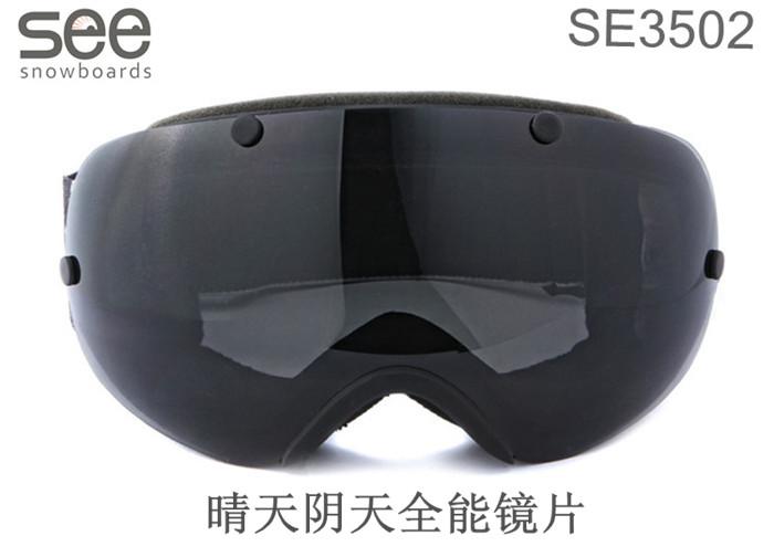 SE3502 черная оправа (рама) / серая (черная) линза