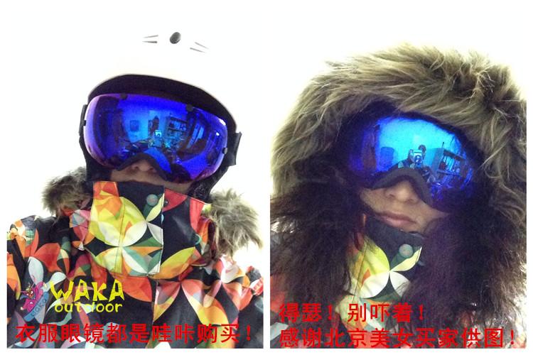Мужские и женские противотуманные сферические горнолыжные, лыжные, сноубордические очки маска фото