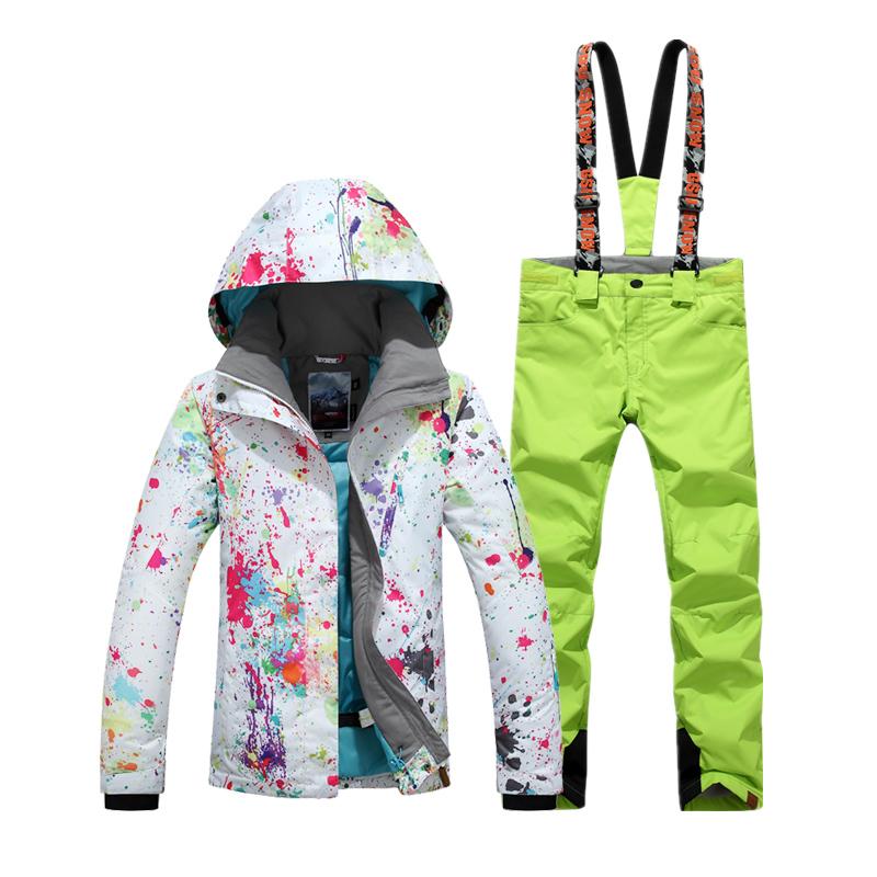зимний горнолыжный костюм женский купить недорого фото