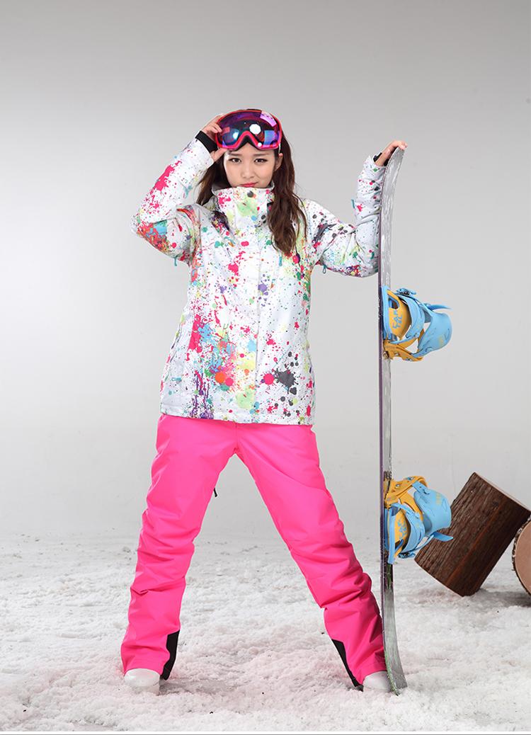 Зимняя дышащая женская горнолыжная куртка