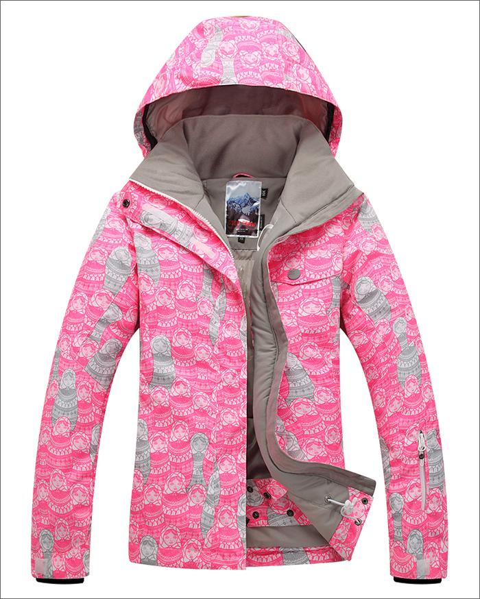 Женская зимняя лыжная куртка Gsou SNOW, красивый женский сноубордический костюм Gsou SNOW, горнолыжная экипировка, горнолыжная одежда фото