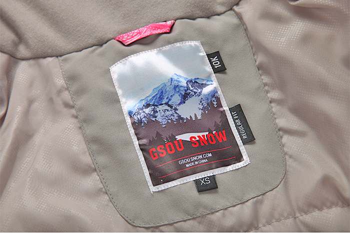 Женская зимняя лыжная куртка Gsou SNOW, красивый женский сноубордический костюм Gsou SNOW, горнолыжная экипировка, горнолыжная одежда