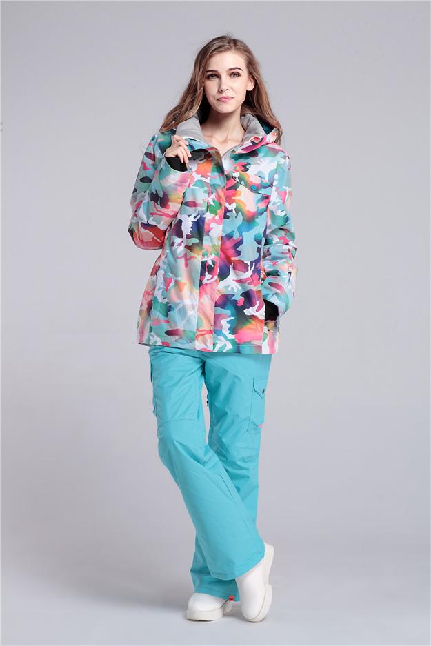 Где купить женский зимний горнолыжный костюм Gsou SNOW, женский сноубордический костюм Gsou SNOW, женская зимняя горнолыжная экипировка, женский костюм для сноуборда, купить в интернет магазине горнолыжную одежду