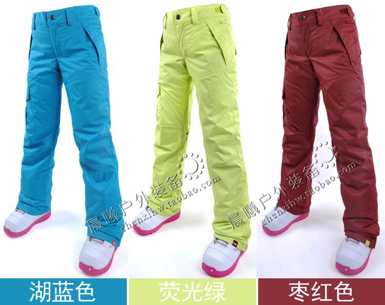 Лыжные брюки Gsou Snow, сноубордические брюки женские, женские розовые горнолыжные брюки-штаны Gsou Snow фото