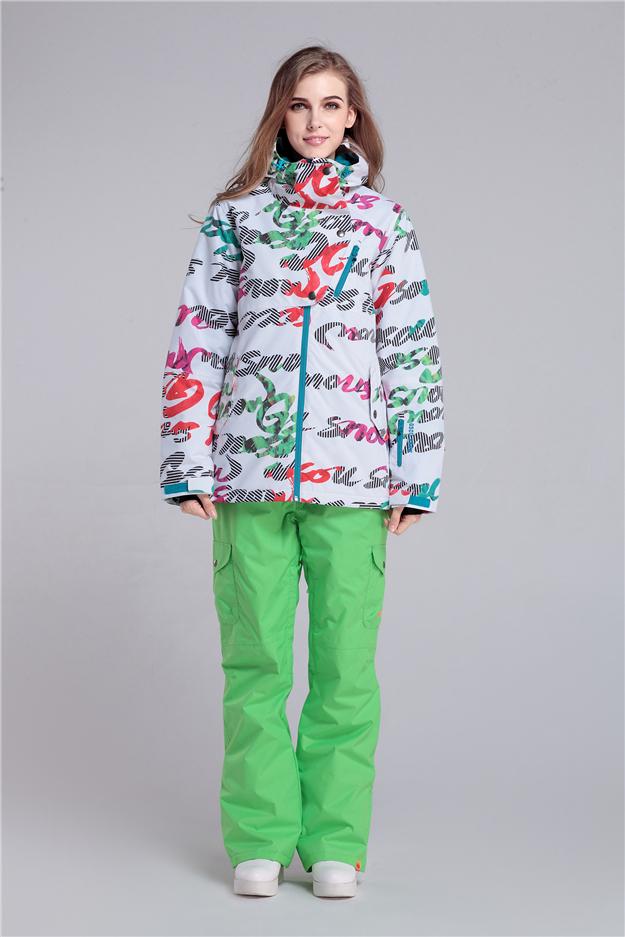 Женский зимний горнолыжный костюм Gsou SNOW
