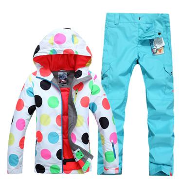 Модные яркие недорогие спортивные женские горнолыжные лучшие костюмы Gsou SNOW купить в интернет магазине фото