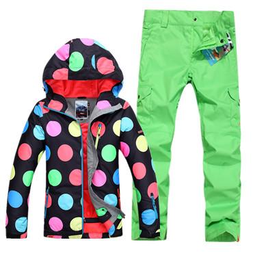 Модные яркие недорогие спортивные женские горнолыжные лучшие костюмы Gsou SNOW купить в интернет магазине