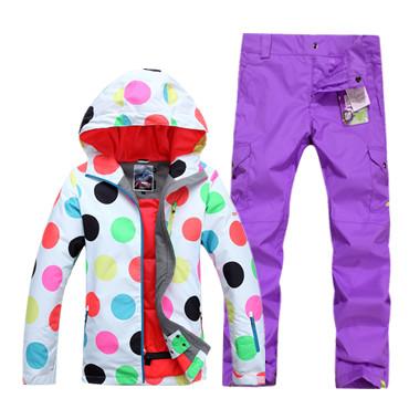 Красивые яркие недорогие спортивные женские горнолыжные лучшие костюмы Gsou SNOW купить в интернет магазине