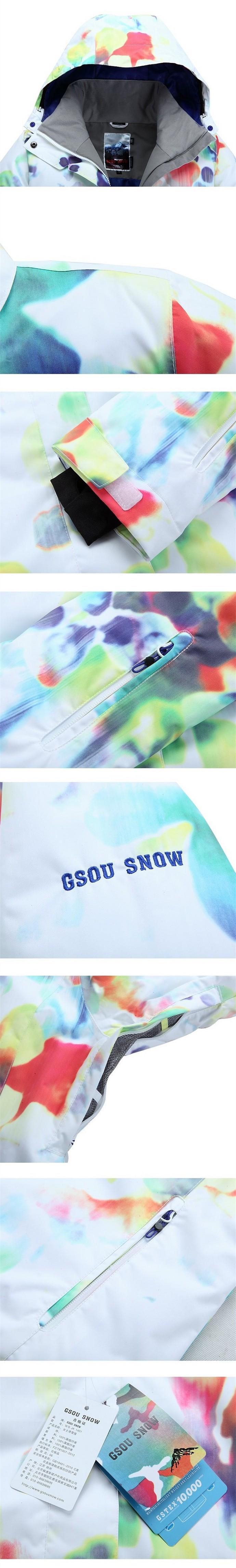 Женская зимняя горнолыжная, лыжная куртка Gsou SNOW фото