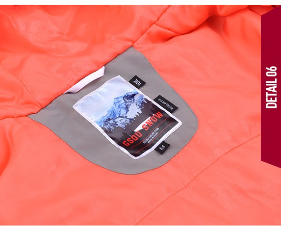 Женская зимняя горнолыжная куртка Gsou SNOW, красивый женский сноубордический костюм Gsou SNOW, горнолыжная экипировка, горнолыжная одежда
