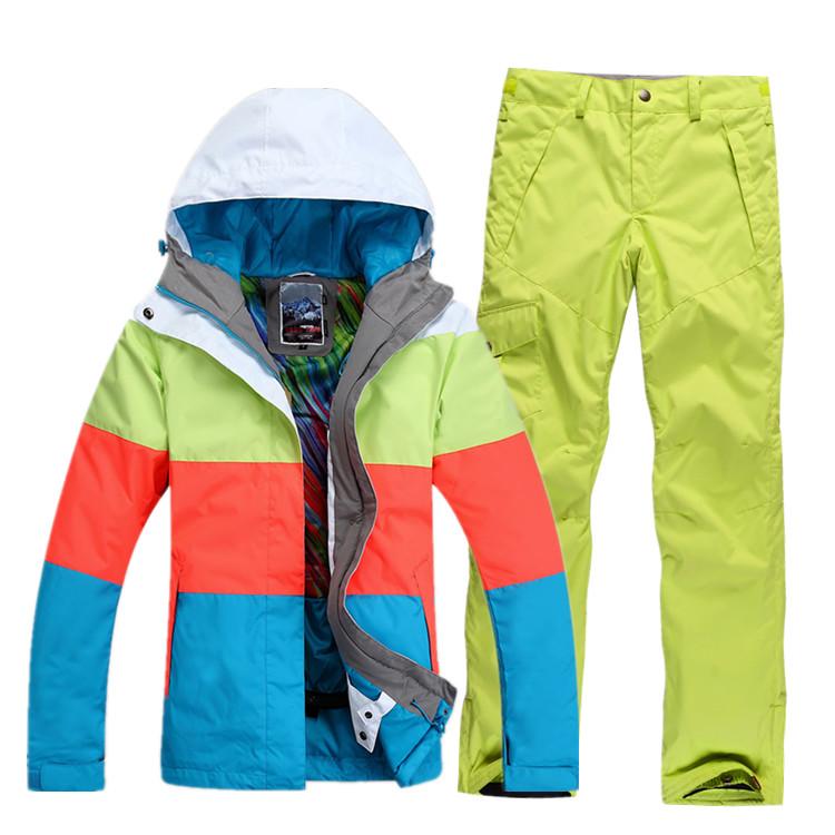 Купить модный горнолыжный костюм женский
