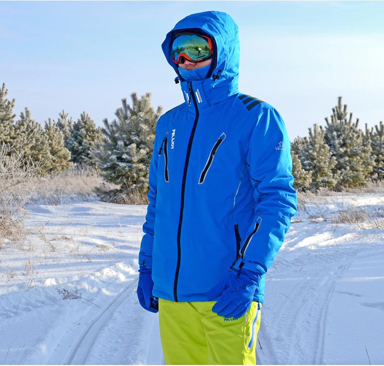 Водонепроницаемая, ветрозащитная мужская лыжная куртка фото