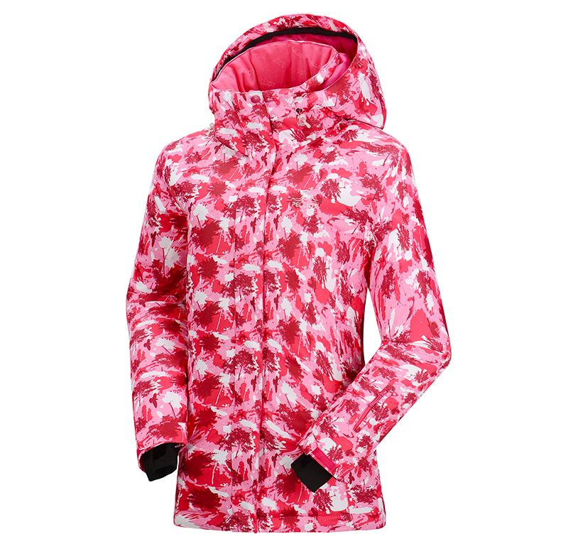Женская модная самая лучшая красивая зимняя горнолыжная куртка PELLIOT красная модель 2016 2017 2018 2019 фото