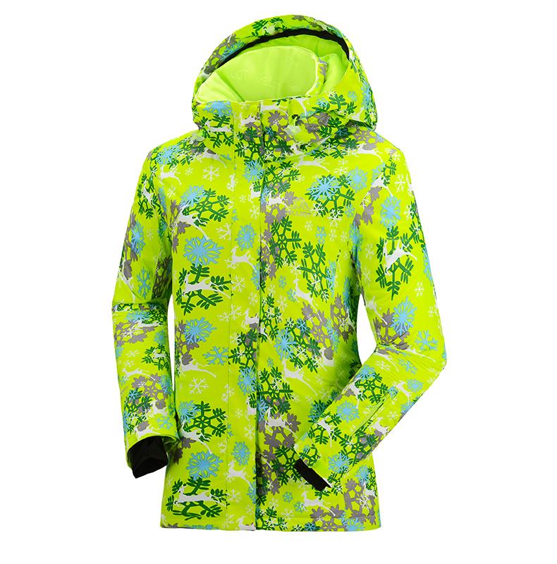 Женская модная самая лучшая красивая зимняя горнолыжная куртка PELLIOT зеленая модель 2016 2017 2018 2019 фото