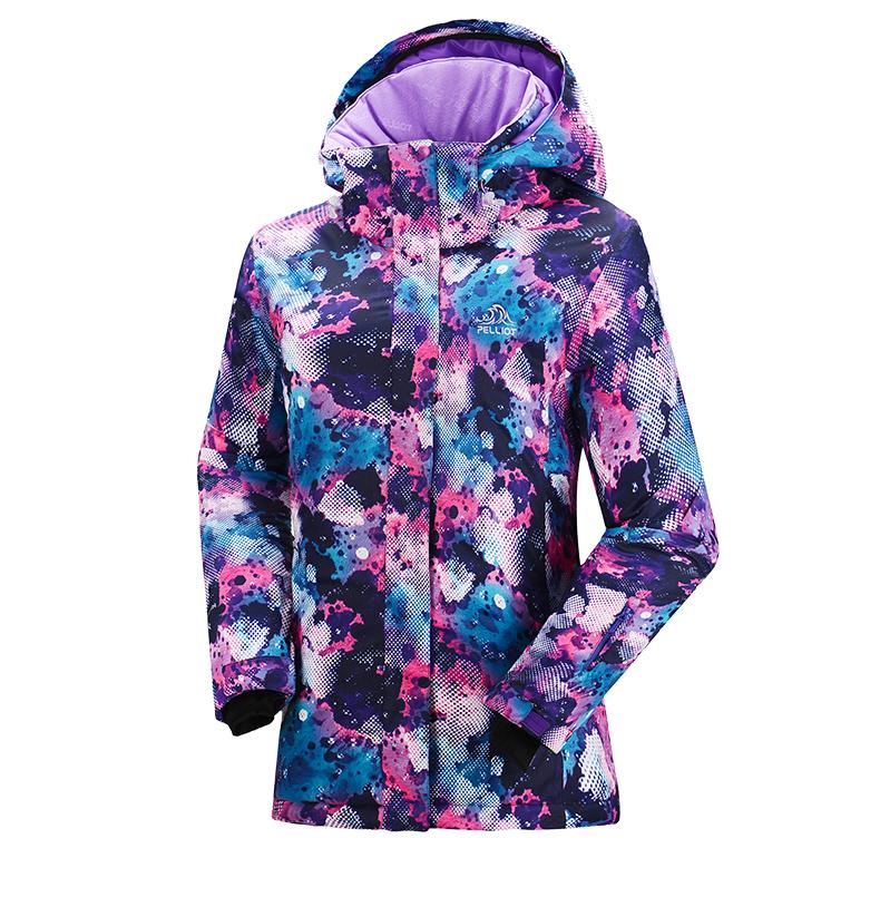 Женская модная зимняя горнолыжная куртка фото