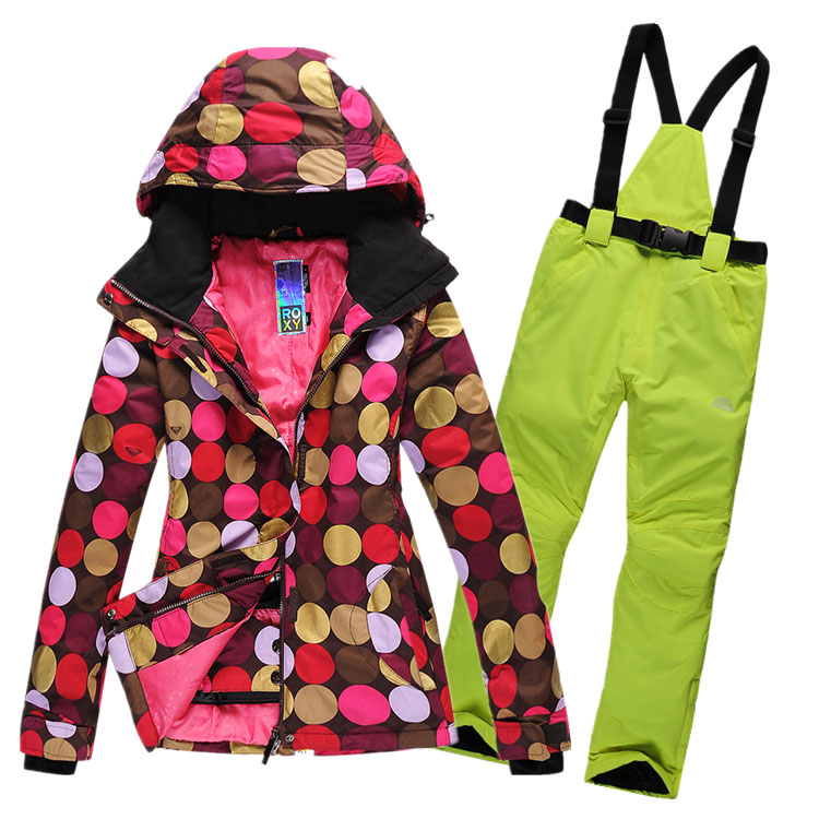 5e21837b4a27 Женский зимний теплый красивый горнолыжный, сноубордический костюм, куртка  ROXY, брюки ROSSIGNOL с доставкой ...