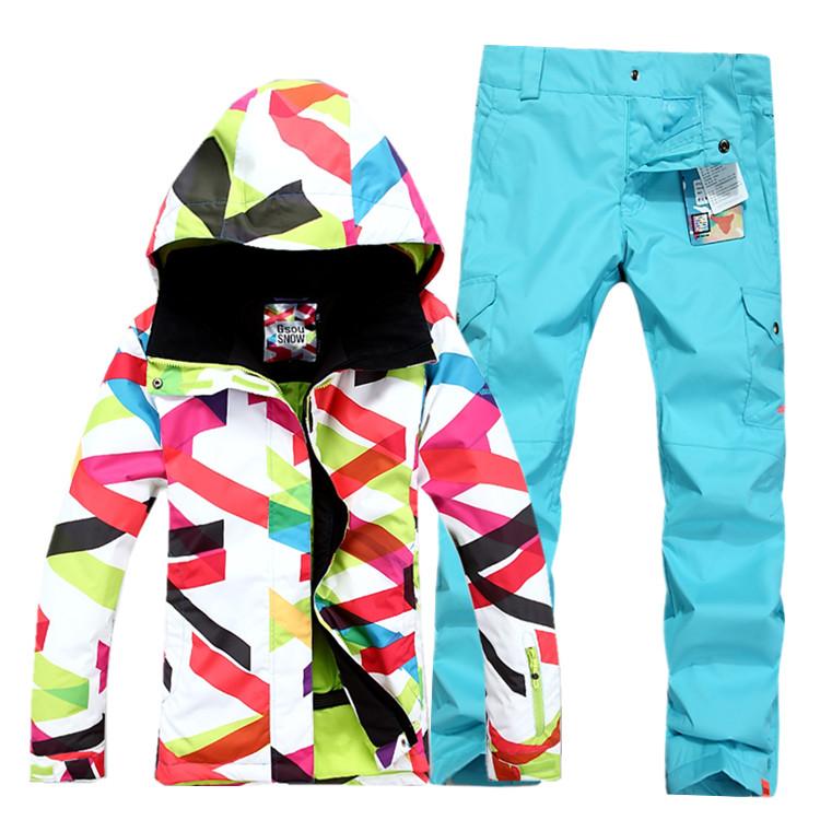 76f142a725f4 Женский зимний лыжный костюм Gsou SNOW, женский сноубордический костюм ROXY,  женская зимняя лыжная экипировка