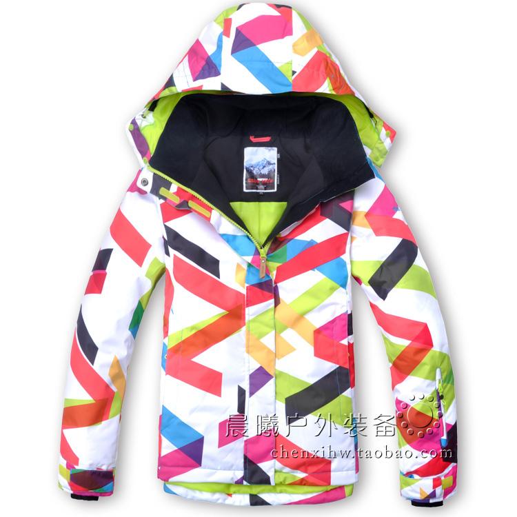 77c0379a0f765 Женская ветрозащитная водонепроницаемая зимняя лыжная куртка GSOU SNOW